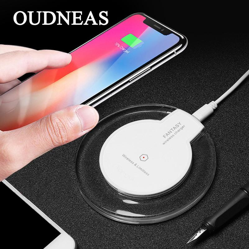 Phone Accessories Lux Wireless Chargers OUDNEAS Qi Wireless Charger 5V 2A Micro USB Charging Pad for iPhone X 8 7 7P 6P 6 6S Android Type C Wireless charger receiver