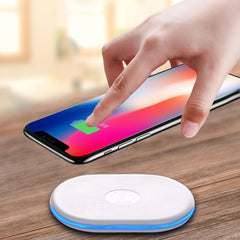 Phone Accessories Lux Wireless Chargers Qi Wireless Charger 10W Wireless Charger For iPhone 8/8 Plus/X Charging Pad For Samsung Galaxy NOTE 8/ S8 Wireless Charger 2017