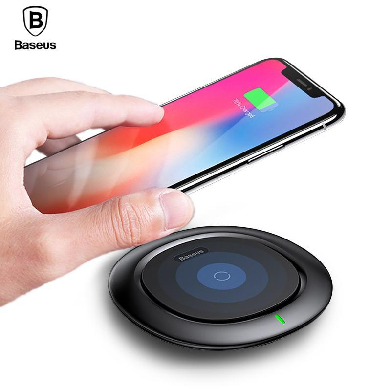 Phone Accessories Lux Wireless Chargers Qi Wireless Charger Baseus Fast Wireless Charging Pad For iPhone X 8 Plus Samsung Galaxy Note 8 S8 S7 S6 Edge Wirless Charger