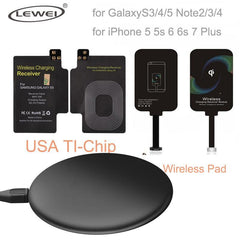 Phone Accessories Lux Wireless Chargers Qi Wireless Charger Pad For iPhone 8 8 Plus For Samsung Galaxy Note 4 3 S3 S4 S5 Wireless Charging Panel With Receiver Coil