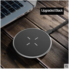 Phone Accessories Lux Wireless Chargers Upgraded Black Torras Qi Wireless Charger for iPhone Samsung 10W Fast Charging Pad for iPhone x 8 plus Original Wireless Charger for Galaxy S8