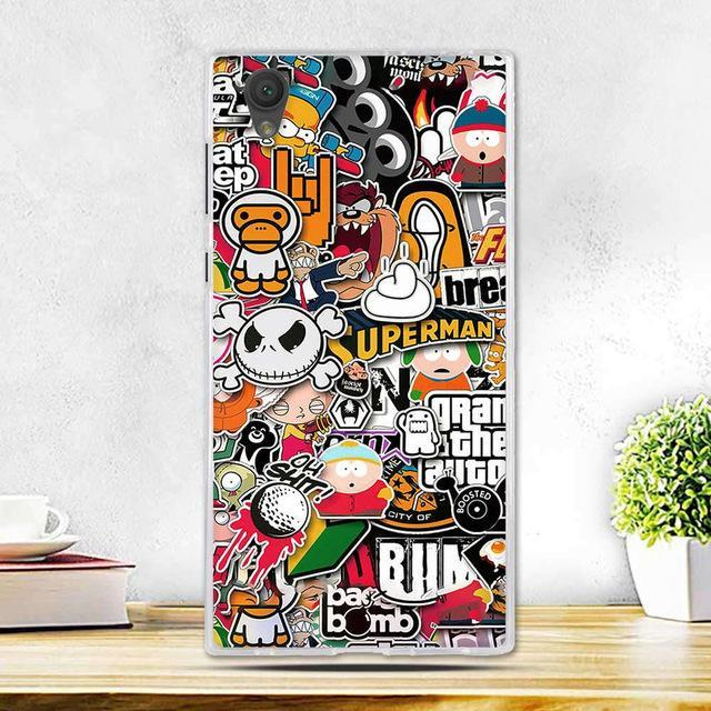 Phone Case and Accessories case sony xperia l1 14 Fashion Painted 2017 Newest Ultra Soft Silicone Phone Case For Sony Experia L1