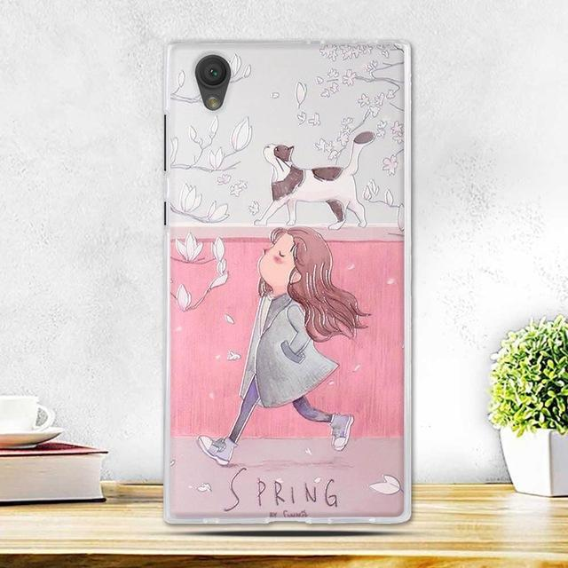 Phone Case and Accessories case sony xperia l1 5 Fashion Painted 2017 Newest Ultra Soft Silicone Phone Case For Sony Experia L1