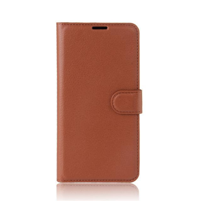 Phone Case and Accessories case sony xperia l1 Brown / Leather Phone Case Wallet PU Leather  For Sony Xperia L1