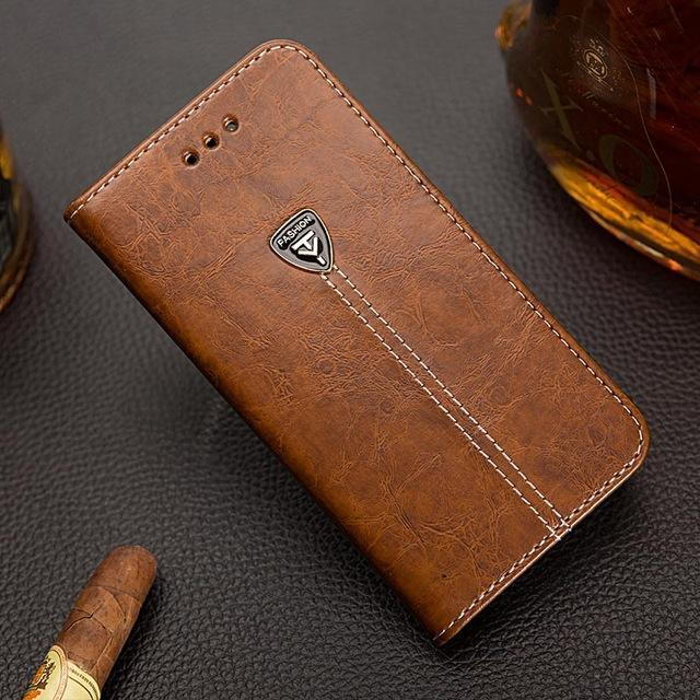 Phone Case and Accessories case sony xperia l1 Brown / Pu leather Wallet PU Leather Back Cover Phone Case For Sony Xperia L1