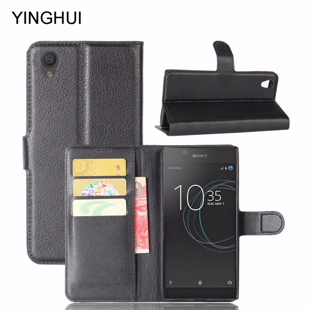 Phone Case and Accessories case sony xperia l1 Luxury PU Leather Back Phone Case Flip For Sony Xperia L1
