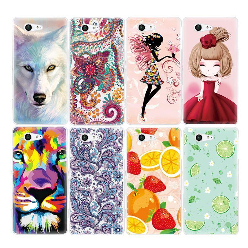 Phone Case and Accessories case sony xperia x compact Phone Case For Sony Xperia X Compact -Carton Cute Girls Animals Pattern Soft