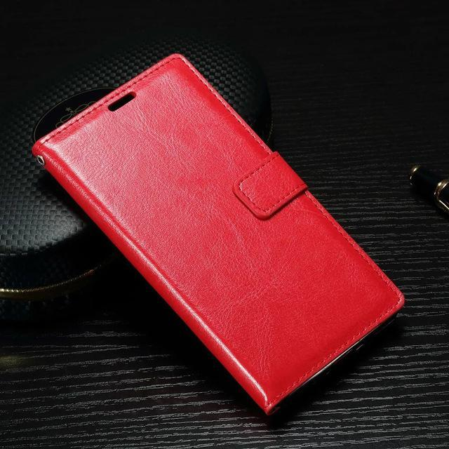 Phone Case and Accessories case sony xperia x compact Red / For Sony Z3 Compact Phone Case For Sony Xperia x Compact -Mini Soft Leather Cover Wallet Housing
