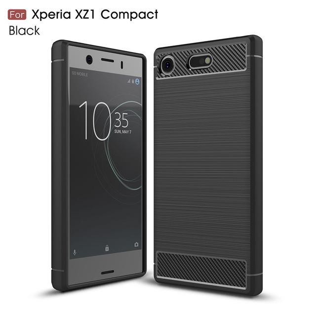 Phone Case and Accessories Case SONY XPERIA XZ1 COMPACT black / Carbon Fiber Phone Case For Sony Xperia XZ1 Compact Case Carbon Fiber