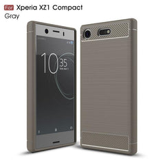 Phone Case and Accessories Case SONY XPERIA XZ1 COMPACT gray / Carbon Fiber Phone Case For Sony Xperia XZ1 Compact Case Carbon Fiber