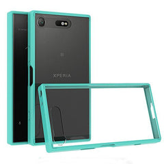 Phone Case and Accessories Case SONY XPERIA XZ1 COMPACT Green / PC + TPU Phone Case Ultra Thin Clear Hard Acrylic Back Cover Case For Sony XZ1 Compact