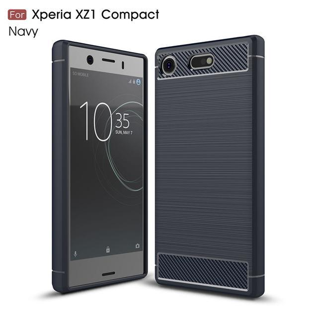 Phone Case and Accessories Case SONY XPERIA XZ1 COMPACT navy / Carbon Fiber Phone Case For Sony Xperia XZ1 Compact Case Carbon Fiber