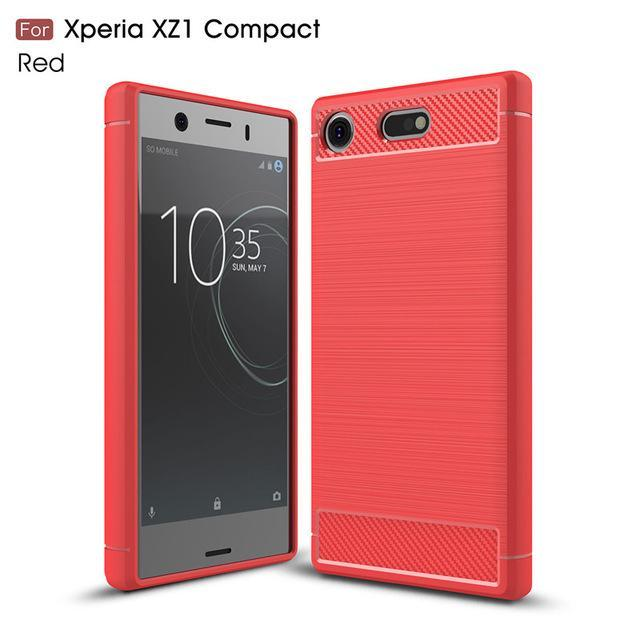 Phone Case and Accessories Case SONY XPERIA XZ1 COMPACT red / Carbon Fiber Phone Case For Sony Xperia XZ1 Compact Case Carbon Fiber