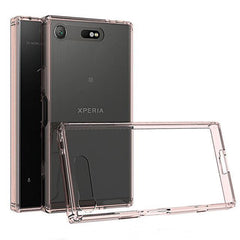 Phone Case and Accessories Case SONY XPERIA XZ1 COMPACT Rose gold / PC + TPU Phone Case Ultra Thin Clear Hard Acrylic Back Cover Case For Sony XZ1 Compact