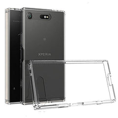 Phone Case and Accessories Case SONY XPERIA XZ1 COMPACT Transparent / PC + TPU Phone Case Ultra Thin Clear Hard Acrylic Back Cover Case For Sony XZ1 Compact