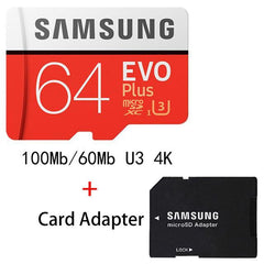 Phone Case and Accessories micro sd card MB-MC64G-1 SAMSUNG Micro SD Card 8G 16G 32G 64G 128G 256G 100Mb/s Memory Card Flash TF