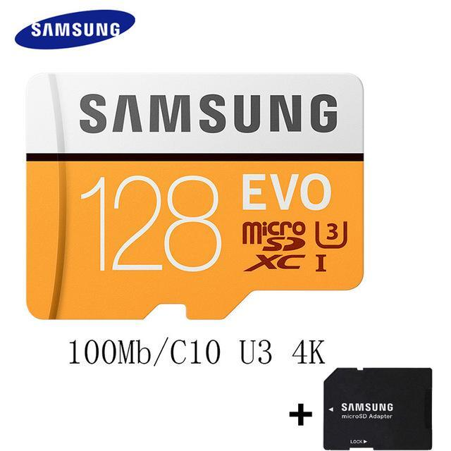 Phone Case and Accessories micro sd card MB-MP128G-1 SAMSUNG 100Mb/s  Micro SD Card Class10 32GB 64GB 128GB 256GB 16GB 8GB others