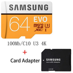 Phone Case and Accessories micro sd card MB-MP64G-1 SAMSUNG Micro SD Card 8G 16G 32G 64G 128G 256G 100Mb/s Memory Card Flash TF