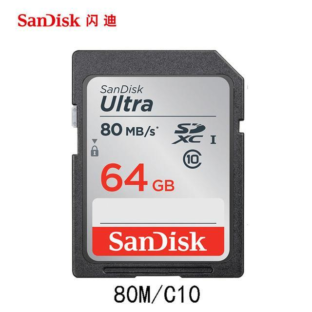 Phone Case and Accessories sd card SDSDUNC-064G SanDisk 300MBS SD Card for Camera 512GB 256GB 128GB 64GB 32GB 16GB Memory Card U3 Flash Card for Camera Flash Card PC SDXC SDHC