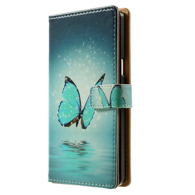 Wallet Leather Stand Phone Case For Sony Xperia E5