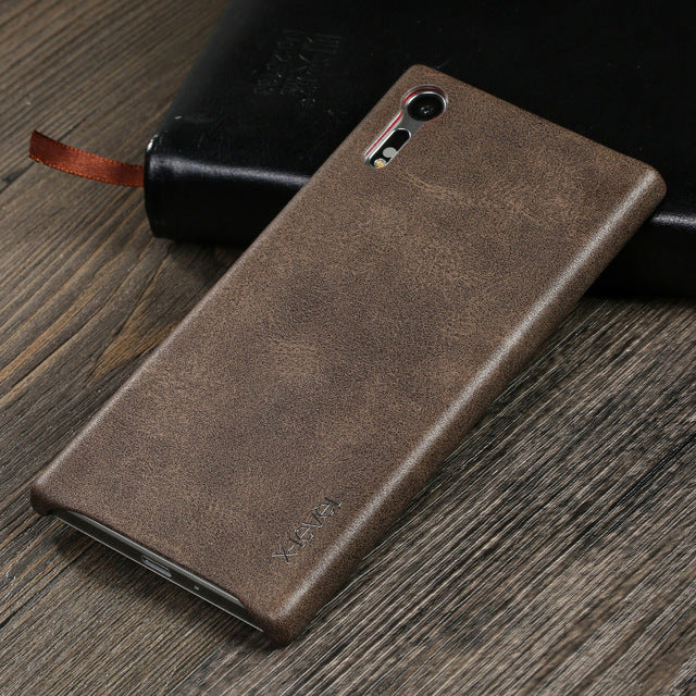 Luxury Leather Case Phone For Sony Xperia X Performance