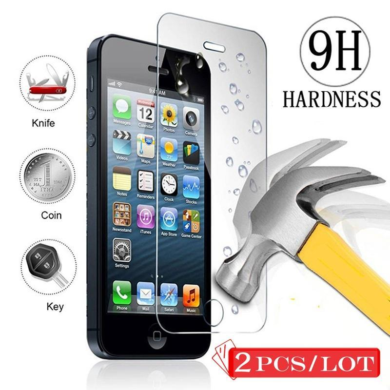 Screen Protectors Screen Protectors Front Tempered Glass for iPhone  5C Ecran Protection
