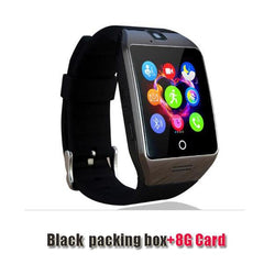 Smartwatch Smartwatch black 8G card Free shipping- Passometer Smart watch with Touch Screen camera TF card,Bluetooth smartwatch for Android IOS Phone