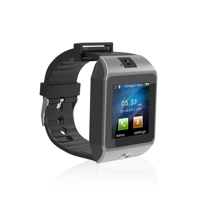 Smartwatch Smartwatch Black and Gray Bluetooth 3.0 Support Micro SIM,card,Smart Watch for iphone Android Sport Watches Clock Sync Notifier Smartwatch