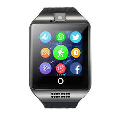 Smartwatch Smartwatch Black Bluetooth Support TF card With Camera Smart Watch message reminder,Watches Wrist for Android