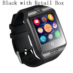 Smartwatch Smartwatch Black With Box / China Smart Watch For Android IOS Support TF Card 32GB Sim Bluetooth Smartwatch 1.54'' HD