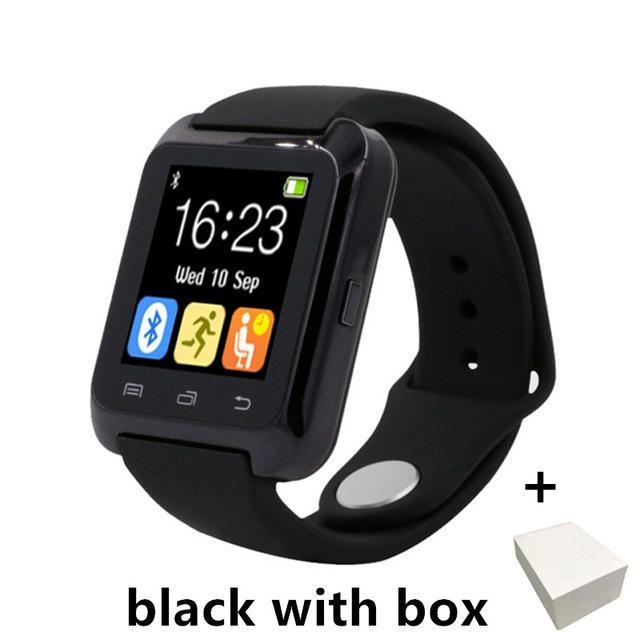 Smartwatch Smartwatch black with box Smartwatch Bluetooth Smart Watch for iPhone IOS Android Smart Phone Wear Clock Wearable Device Smartwatch