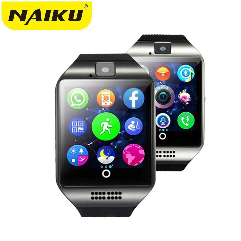 Smartwatch Smartwatch Bluetooth Smart Watch With Camera facebook Sync SMS MP3 WristWatch Support Sim TF For IOS Android Phone