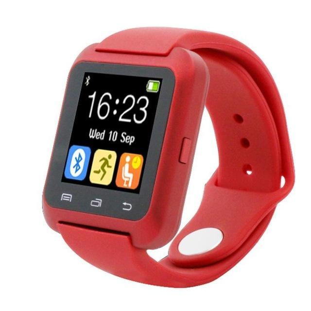 Smartwatch Smartwatch Red Smartwatch Bluetooth Smart Watch for iPhone IOS Android Smart Phone Wear Clock Wearable Device Smartwatch