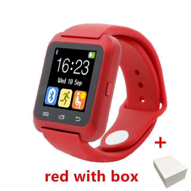 Smartwatch Smartwatch red with box Smartwatch Bluetooth Smart Watch for iPhone IOS Android Smart Phone Wear Clock Wearable Device Smartwatch