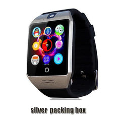 Smartwatch Smartwatch silver packing box Free shipping- Passometer Smart watch with Touch Screen camera TF card,Bluetooth smartwatch for Android IOS Phone