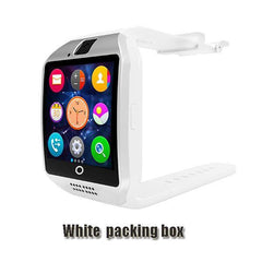 Smartwatch Smartwatch whtie packing box Free shipping- Passometer Smart watch with Touch Screen camera TF card,Bluetooth smartwatch for Android IOS Phone