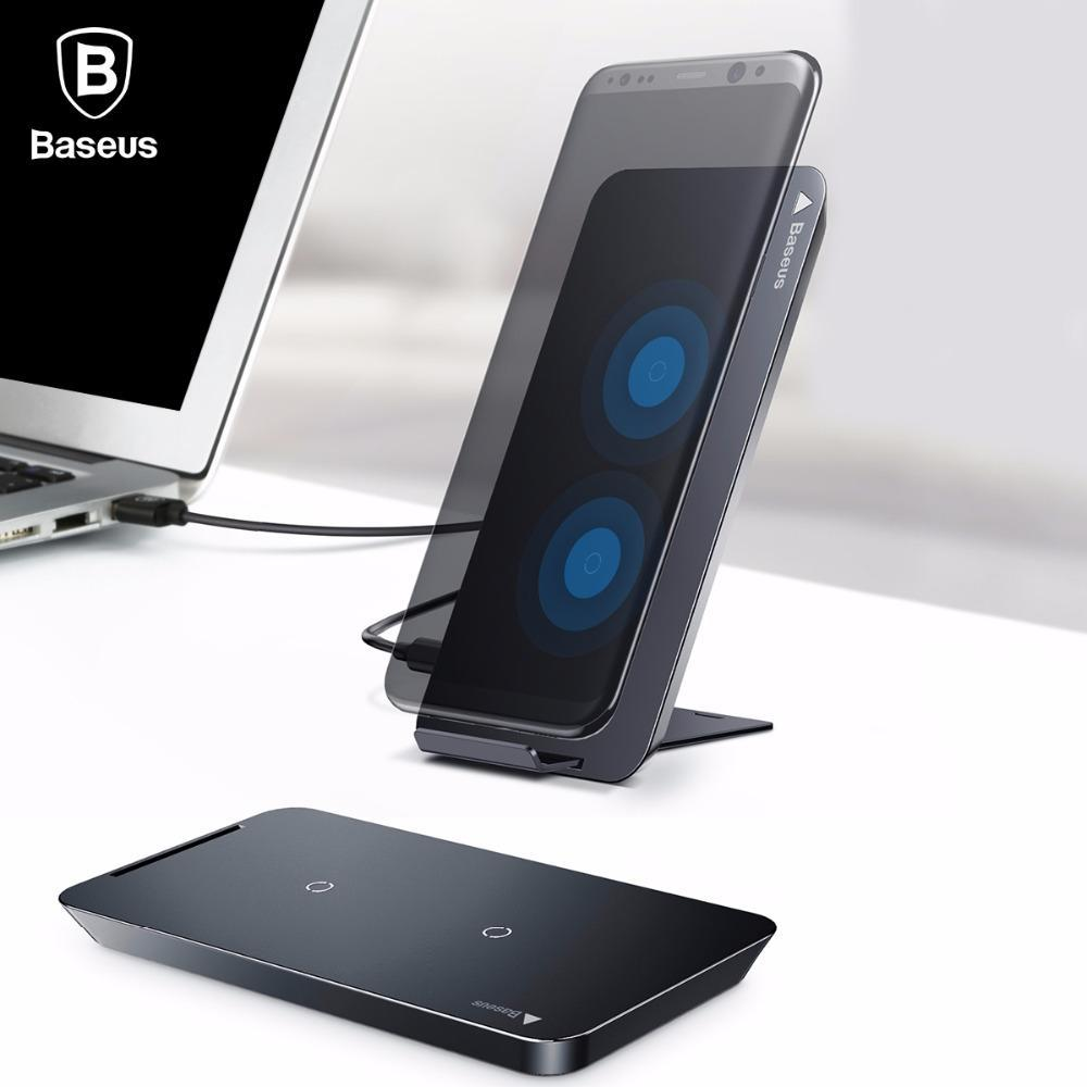 Wireless Chargers Wireless Chargers Baseus Wireless Charger For iPhone X 8 Plus Samsung Note 8 S8 S7 S6 Edge Phone Charger QI Wireless Charging Docking Dock Station