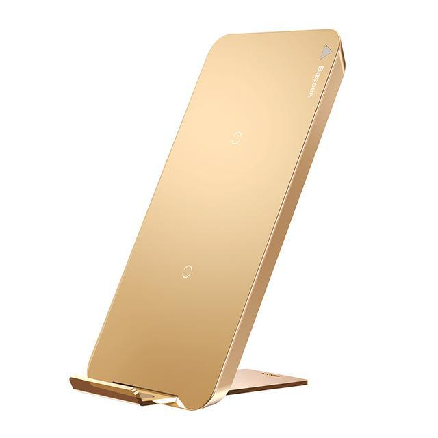 Wireless Chargers Wireless Chargers Gold Baseus Wireless Charger For iPhone X 8 Plus Samsung Note 8 S8 S7 S6 Edge Phone Charger QI Wireless Charging Docking Dock Station