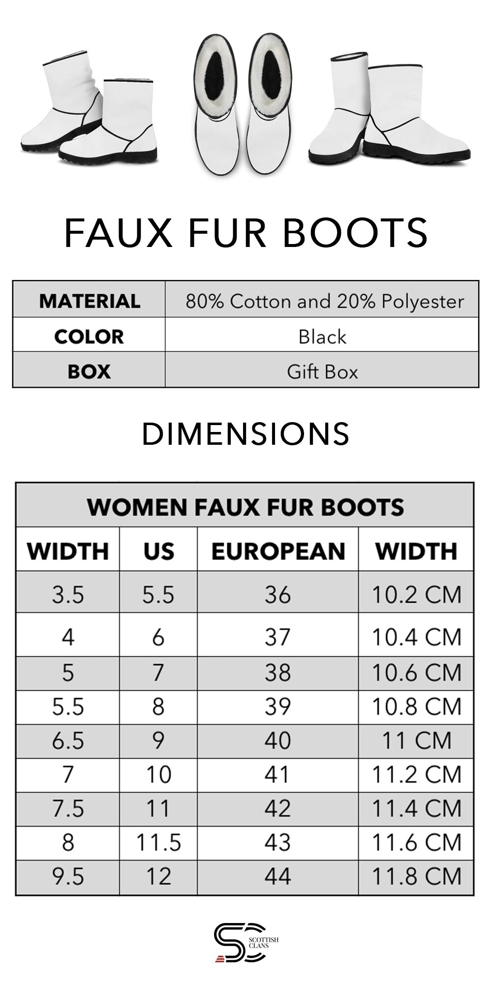 Faux Fur Boots ScottishClans