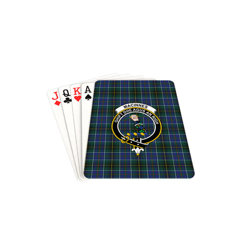 MacInnes Modern Tartan Clan Badge Playing Card TH8