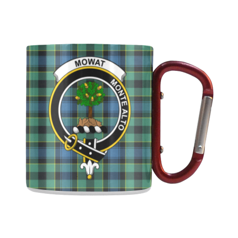 Image of Mowat  Tartan Mug Classic Insulated - Clan Badge | scottishclans.co
