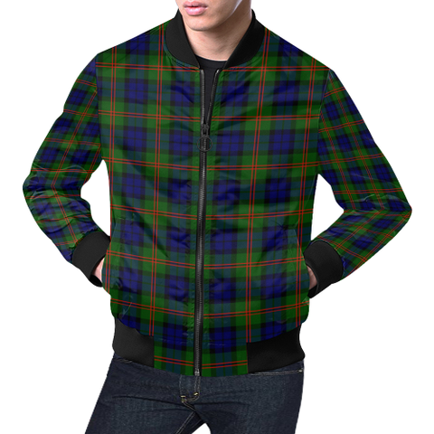 Dundas Modern 02 Tartan Bomber Jacket | Scottish Jacket | Scotland Clothing