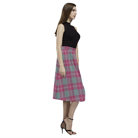 Image of Crawford Ancient Tartan Aoede Crepe Skirt | Exclusive Over 500 Tartan