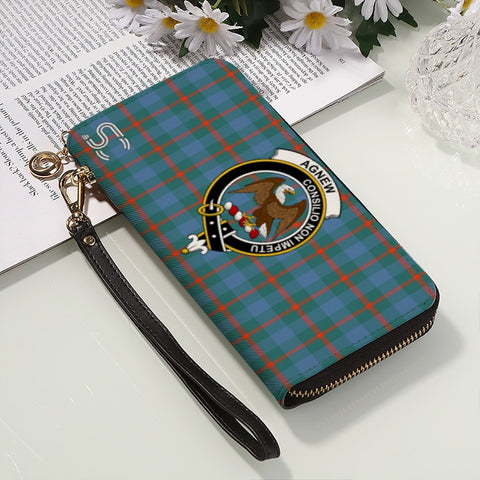 Image of Agnew Crest Tartan Zipper Wallet™