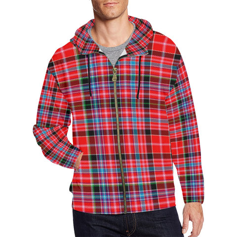 Aberdeen District Tartan Zipped Hoodie | Special Custom Products