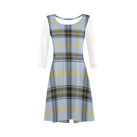 Bell of the Borders Tartan 3/4 Sleeve Sundress | Exclusive Over 500 Clans