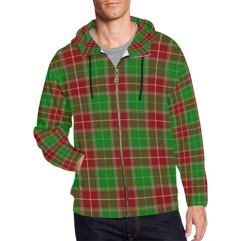 Baxter Modern Tartan Zipped Hoodie | Special Custom Products