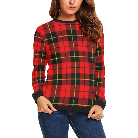 Wallace Hunting - Red Tartan Crewneck Sweatshirt TH8