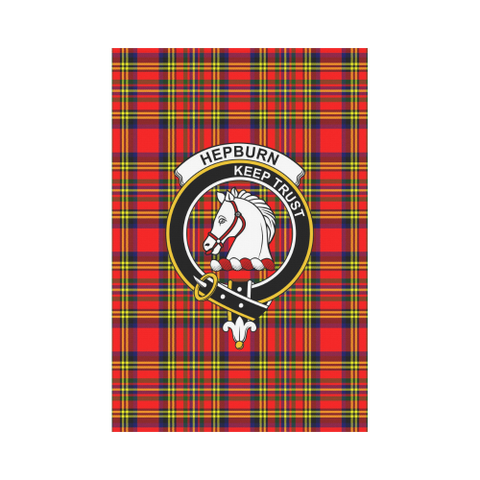 Hepburn Tartan Flag Clan Badge K7
