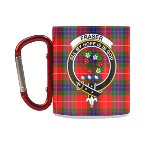 Image of Fraser Of Lovat Tartan Mug Classic Insulated - Clan Badge K7